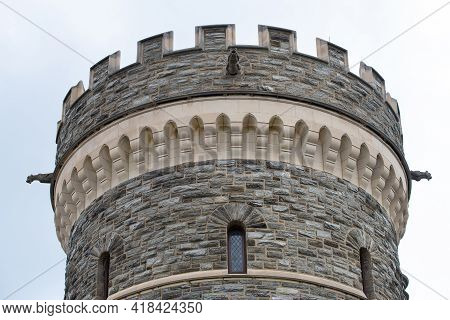 Stone Tower Of The Castle Old History Wall Travel