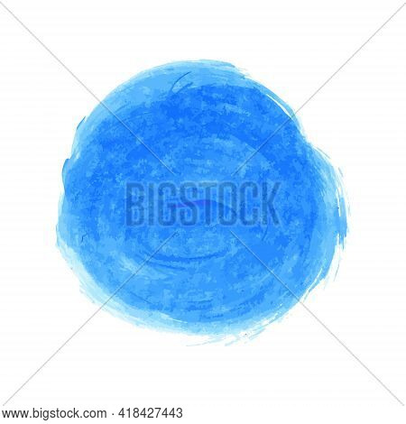 Vector Marina, Navy Blue, Indigo Watercolor Texture Background, Dry Brush Stains, Strokes, Spots Iso