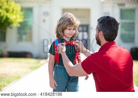 Smart Child. Adorable School Nerd. Intellectual Kid Boy Wear Bow Tie. Back To School Concept. Clever