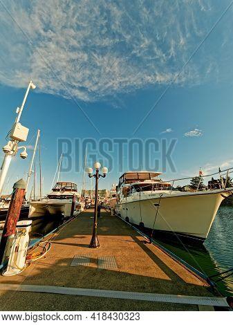 Yachts At The Marina