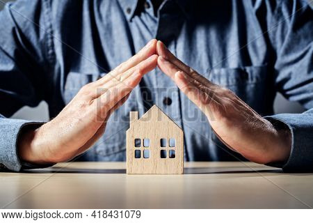 Protect your home insurance, security and house protection concept