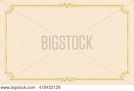 Background Old Paper With Frame, Rectangle Gold Frame Ornament With Set Sail Champagne Background Pa
