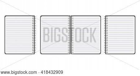 Book Cover For Paper Design. Realistic Book Cover. Notebook Mockup Isolated. Book Cover For Paper De