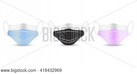 Health Care. Realistic Protective Medical Face Mask. 3d Medical Mask. Coronavirus Pandemic. Vector I