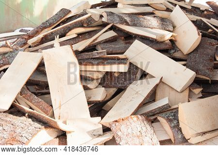 Firewood For Kindling A Fireplace, Soft Selective Focus