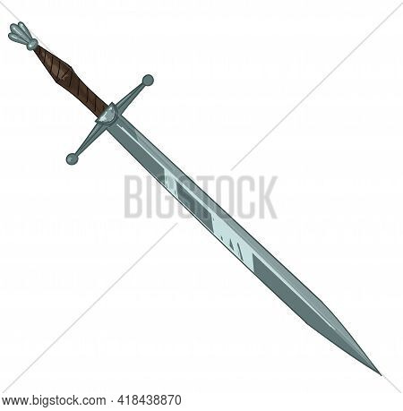 Ancient Sword With Handle, Medieval Armour Weapon