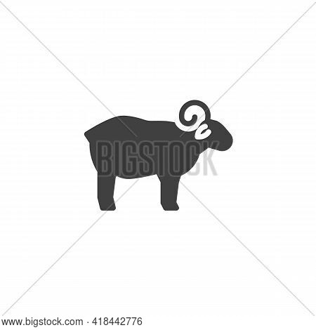 Sheep, Lamb Vector Icon. Filled Flat Sign For Mobile Concept And Web Design. Lamb, Mutton Glyph Icon
