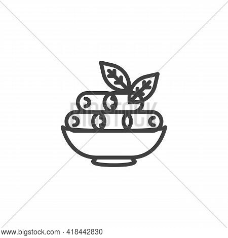 Bowl Of Dates Vector Icon. Filled Flat Sign For Mobile Concept And Web Design. Dry Date Glyph Icon.