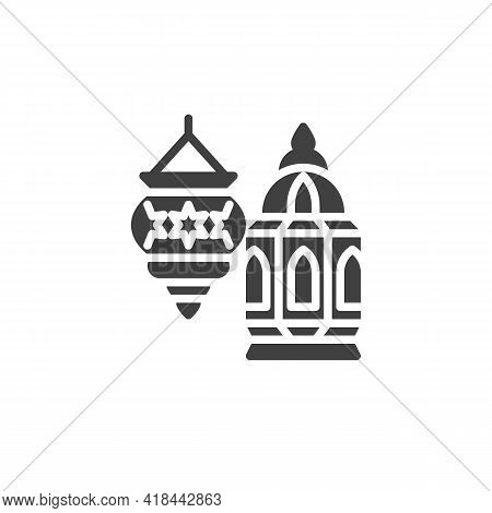 Ramadan Lantern Vector Icon. Filled Flat Sign For Mobile Concept And Web Design. Holy Lantern Glyph