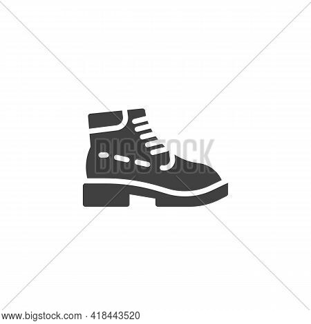 Boots Shoe Vector Icon. Filled Flat Sign For Mobile Concept And Web Design. Trendy Boots Glyph Icon.
