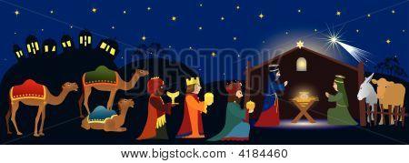 Betlehem And Three Magi