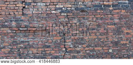 background from old orange brick wall