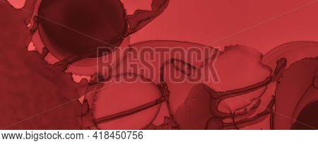 Liquid Blood Background. Rose Fluid Banner. Horror Splatter Black. Watercolor Murder Design. Blood B