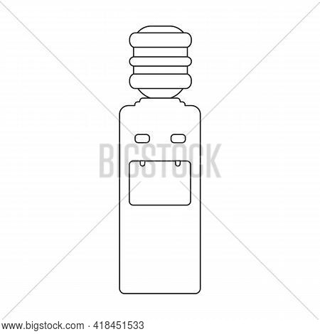 Water Cooler Vector Icon.outline Vector Icon Isolated On White Background Water Cooler.