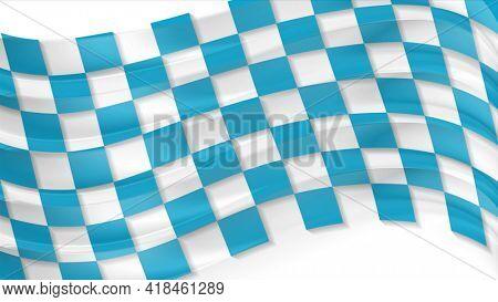 Blue Oktoberfest waving flag abstract background