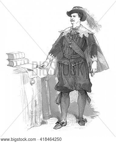 The Hague actor Johan Tjasink as the character Ruys-Blas