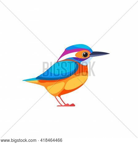 Kingfishers Or Alcedinidae Are A Family, Brightly Colored Birds In The Order Coraciiformes. Bird Car