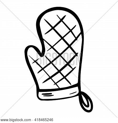 Kitchen Glove Flat Icon. Mitten Icon Suitable For Info Graphics, Websites And Print Media And Interf