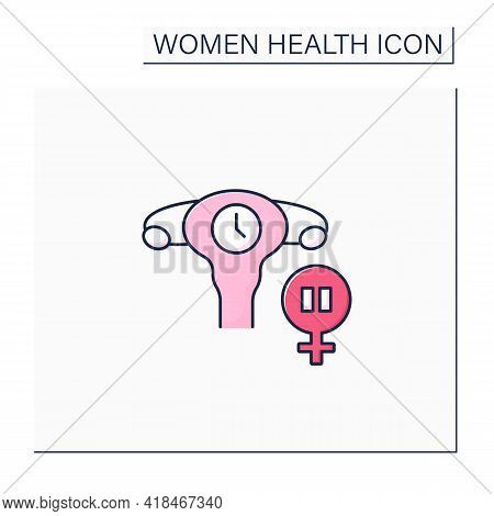 Menopause Color Icon. Women Menstrual Cycles End. Climacteric. Health Care. Woman Health Concept. Is
