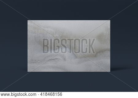 Blank customized gray business card
