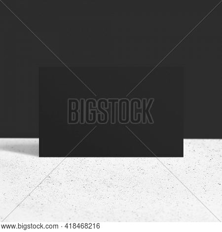 Blank customized black business card