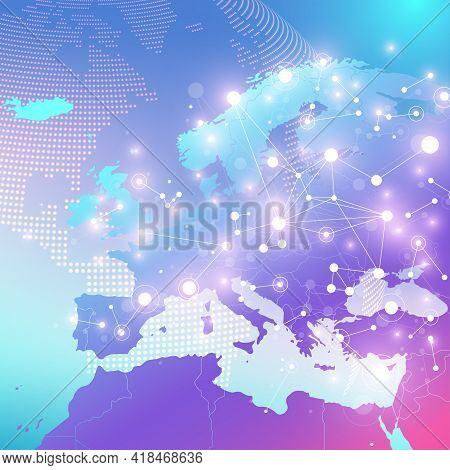 Big Data Visualization. Geometric Abstract Background Visual Information Complexity. Futuristic Info