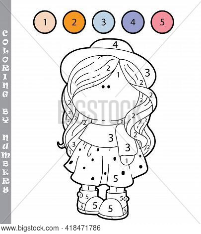 Funny Coloring By Numbers Coloring Educational Game. Vector Illustration Coloring By Numbers Educati