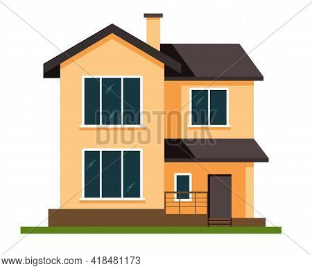 Private House. Architecture. Exterior. House. Advertise Property. Banner Advertise Property.