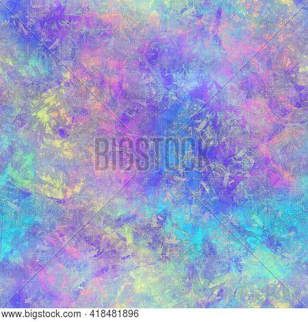 Seamless Iridescent Rainbow Light Pattern For Print