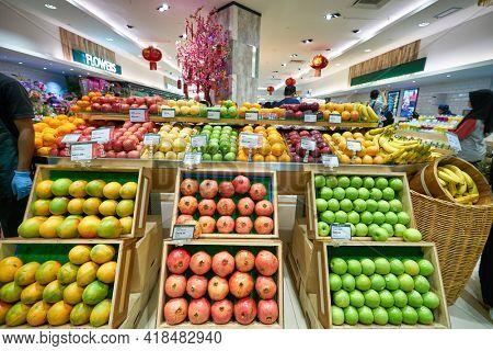 KUALA LUMPUR, MALAYSIA - CIRCA JANUARY, 2020: entrance to Cold Storage KLCC supermarket in Kuala Lumpur.