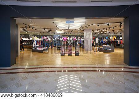 KUALA LUMPUR, MALAYSIA - CIRCA JANUARY, 2020: Nike storefront in Suria KLCC shopping mall in Kuala Lumpur.