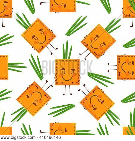 Seamless Pattern Onion Shaped Patch Pocket. Character Pocket Onion. Cartoon Style. Design Element. T