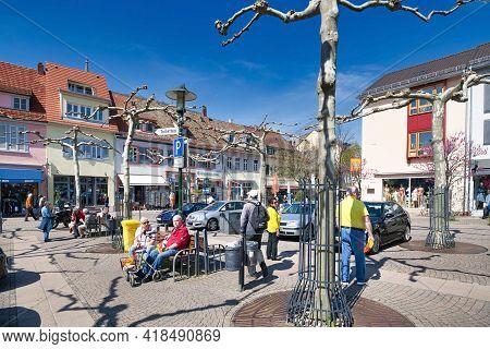 Bad Dürkheim, Germany - April 2021: Town Square Called