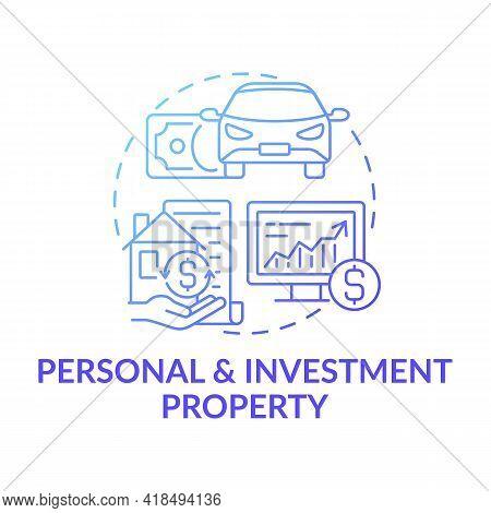 Personal And Investment Property Concept Icon. Passive Income Stream Idea Thin Line Illustration. Pe
