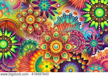 Luxury Mandala. Abstract Background. Mandala Background, Decorative Background With An Elegant Manda
