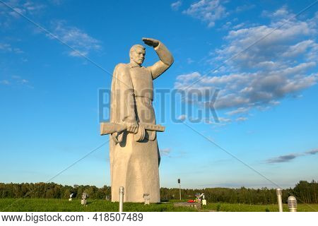 Nelidovo Village, Volokolamsk District, Moscow Region - August 20, 2020: Lookout! Memorial To