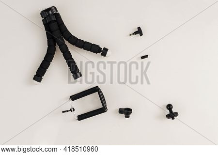 Old Cheap Damaged Camera Tripod And Details For It