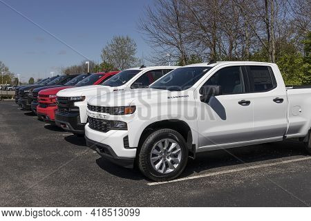 Plainfield - Circa April 2021: Chevrolet Silverado 1500 Display. Chevy Is A Division Of Gm And Offer