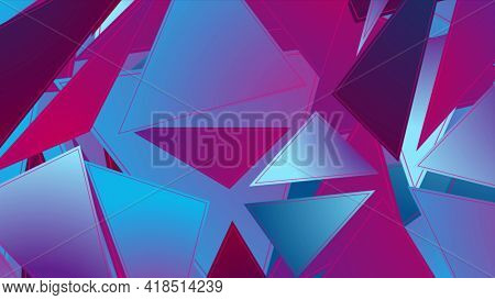 Abstract hi-tech geometric low poly background with triangles