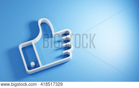 Ok like social media hand icon symbol. 3D render