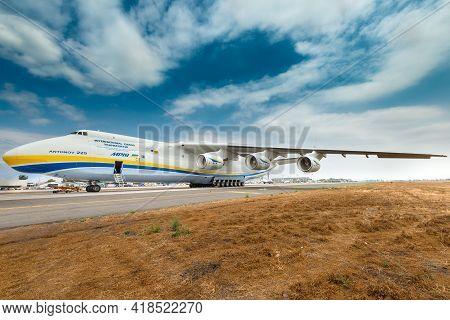 Santiago De Chile, Metropolitan Region, Chile, South America - November 23, 2016: The Antonov 225 Al