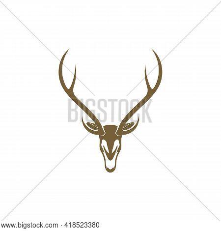 Deer Head Design Vector Illustration, Creative Deer Head Logo Design Concept Template, Symbols Icons