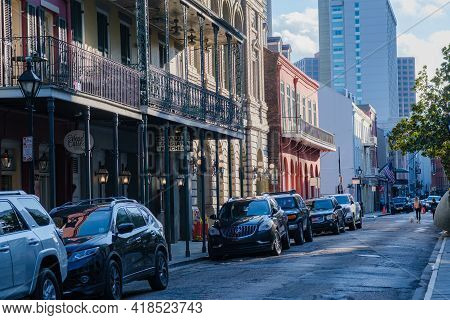 New Orleans, La  - October 26: Landmark Buildings  On Chartres Street In The French Quarter On Octob