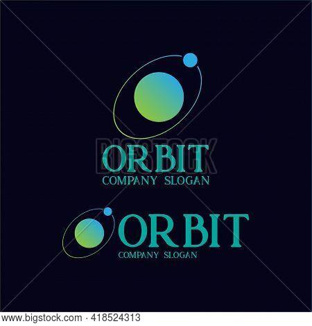 Orbit Design Logo Vector. Illustration Orbit Planet Design Vector