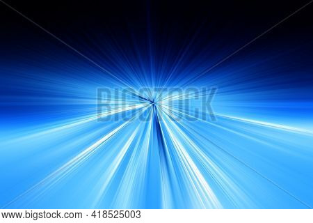 Abstract Radial Zoom Blur Surface Of   Dark Blue And Light Blue Tones. Abstract Bright Blue   Backgr