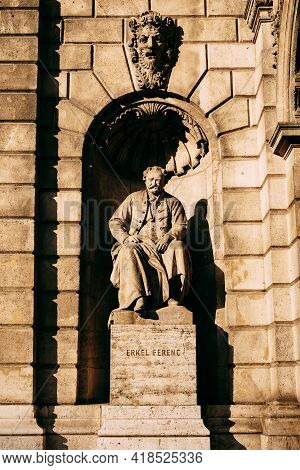Monument To Erkel Ferenc In Budapest, Hungary