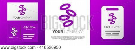 Logotype Medical Hemoglobin Erythrocytes Icon Isolated On White Background. Logo Design Template Ele