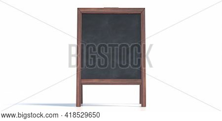 Menu Board Isolated On White Background. 3D Illustration