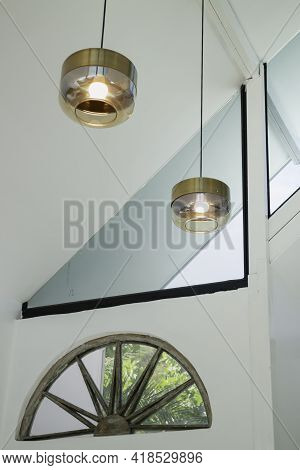 Light Lamp Hanging From The Ceiling, Stock Photo