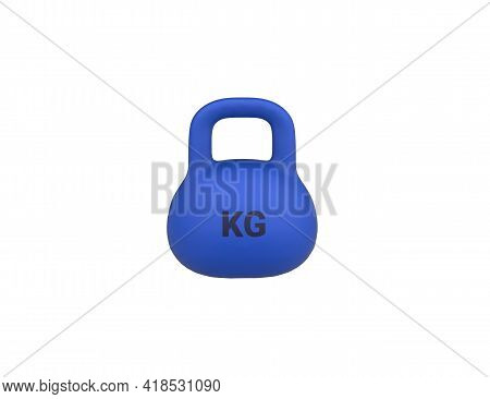 Weight Kettlebell Icon 3d Render Model Isolated On White Background